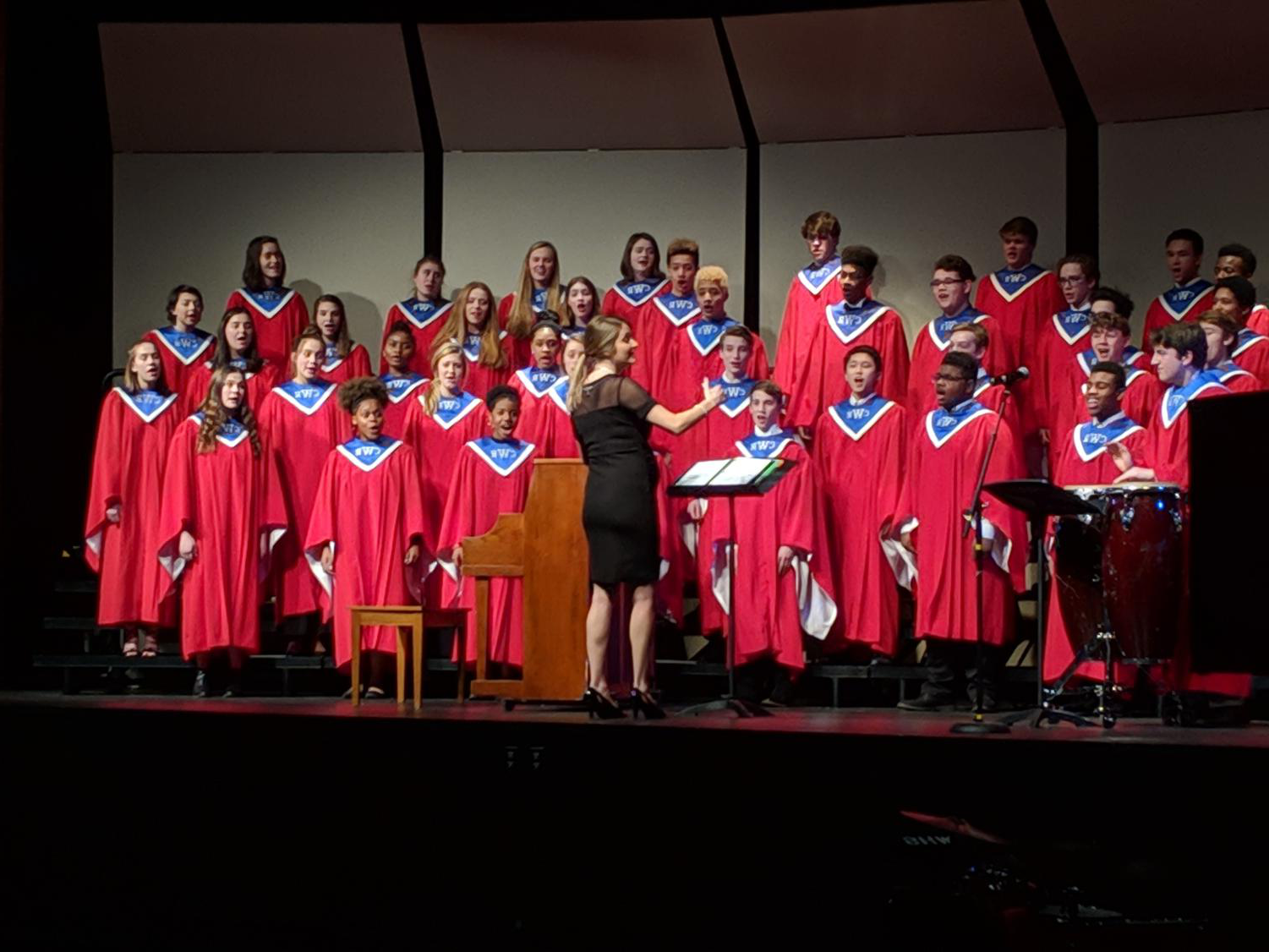 photo of winter choir concert